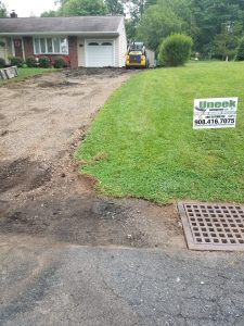 uneek driveway before work completed